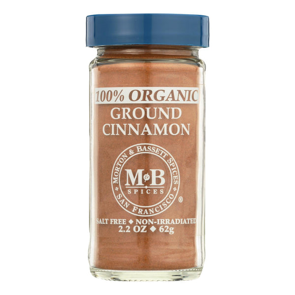 Morton And Bassett 100% Organic Ground Cinnamon - Case Of 3 - 2.3 Oz