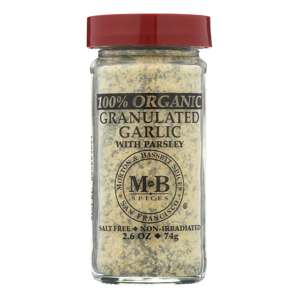 Morton And Bassett Garlic Granulated - Garlic - Case Of 3 - 2.6 Oz.
