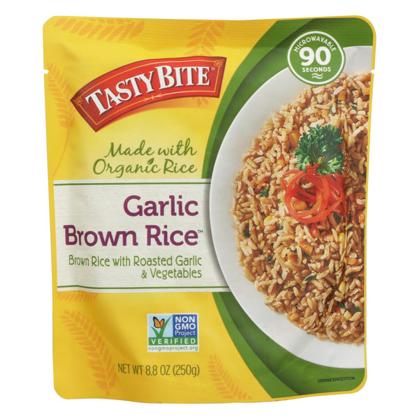 Tasty Bite Rice - Garlic Brown - 8.8 Oz - Case Of 6