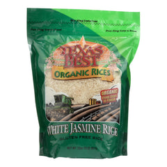 Texas Best Organics Rice - Organic - Jasmine White - 32 Oz - Case Of 6