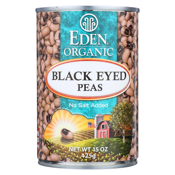 Eden Foods Organic Black Eyed Peas - Case Of 12 - 15 Oz.