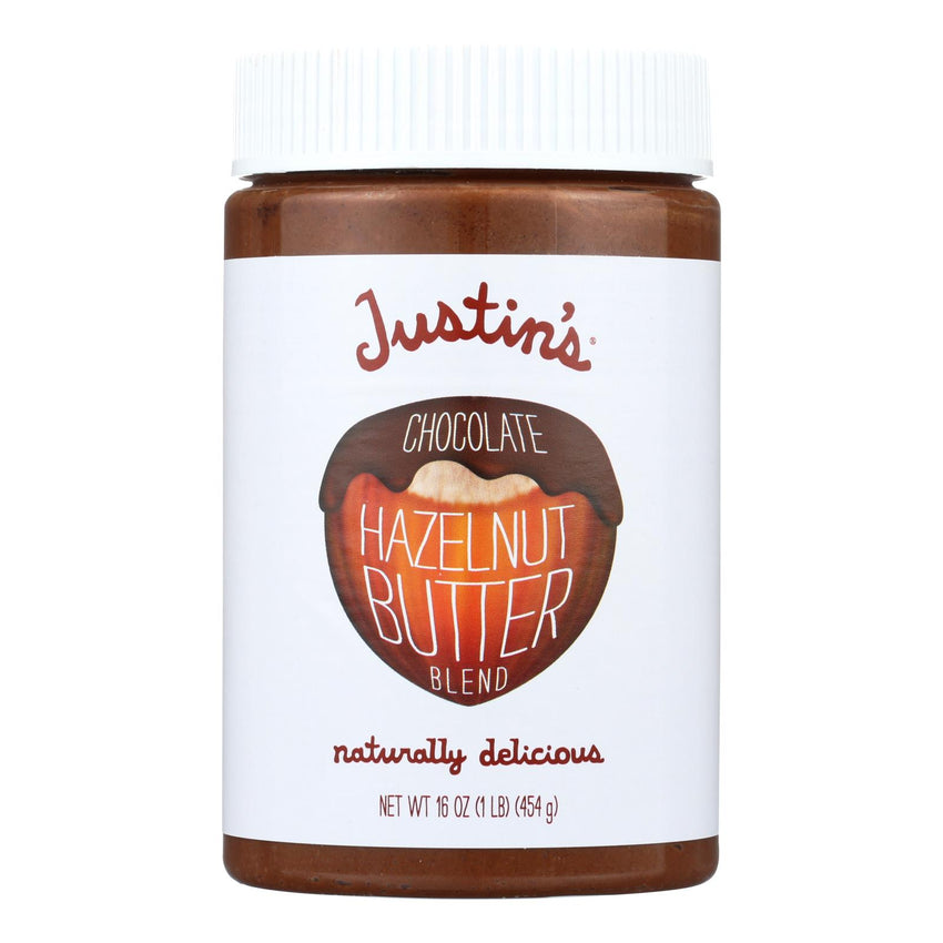 Justin's Nut Butter Hazelnut Butter - Chocolate - Case Of 6 - 16 Oz.