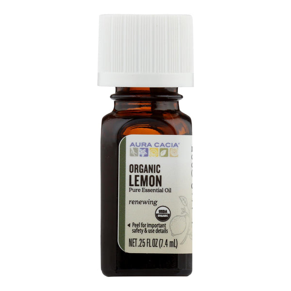 Aura Cacia - Organic Essential Oil - Lemon - .25 Oz