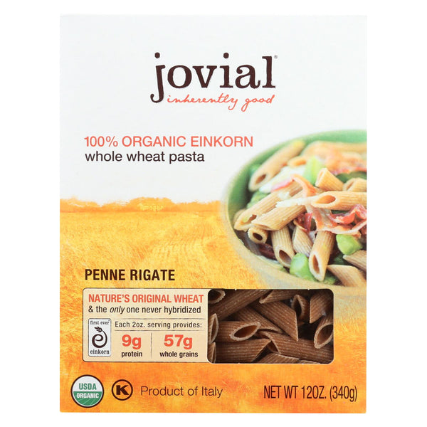Jovial - Pasta - Organic - Whole Grain Einkorn - Penne Rigate - 12 Oz - Case Of 12
