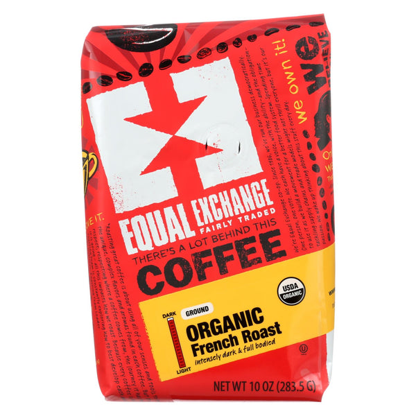 Equal Exchange Organic Drip Coffee - French Roast - Case Of 6 - 10 Oz.