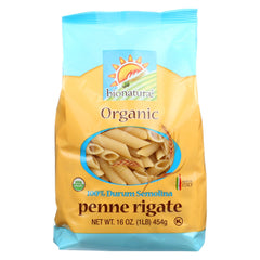 Bionaturae Pasta - Organic - 100 Percent Durum Semolina - Penne Rigate - 16 Oz - Case Of 12