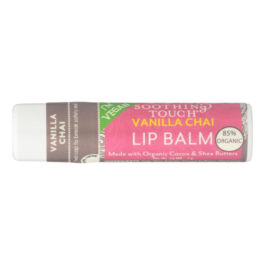 Soothing Touch Lip Balm - Vegan Vanilla Chai - Case Of 12 - .25 Oz
