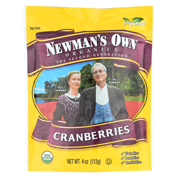 Newman's Own Organics Cranberries And Raisins - Case Of 12 - 4 Oz.