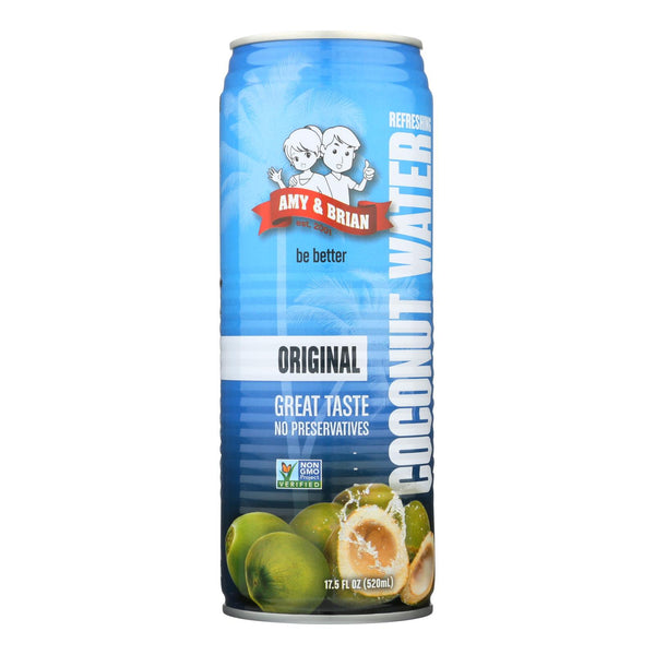 Amy And Brian - Coconut Water - Original - Case Of 12 - 17.5 Fl Oz.