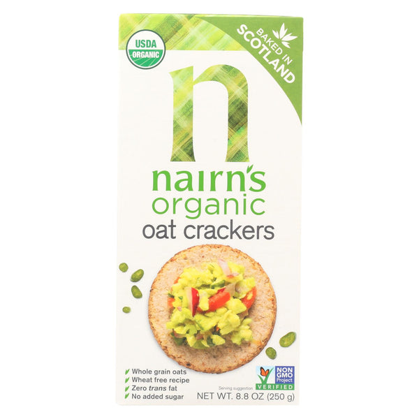 Nairn's Rough Cut Organic Oatcakes - Case Of 12 - 8.8 Oz.