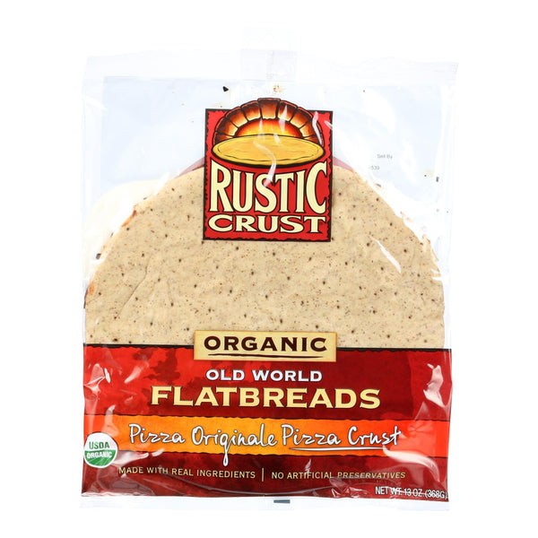 Rustic Crust Pizza Crust - Organic - Flatbreads - Pizza Originale - 13 Oz - Case Of 8