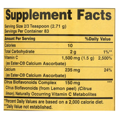 American Health - Ester-c Powder With Citrus Bioflavonoids - 8 Oz