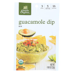 Simply Organic Guacamole Dip Mix - Case Of 12 - 0.8 Oz.