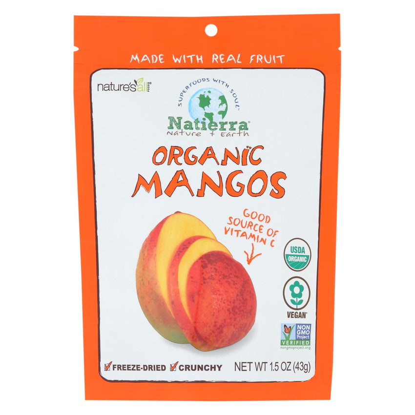 Natierra Freeze Dried - Mangos - Case Of 12 - 1.5 Oz.