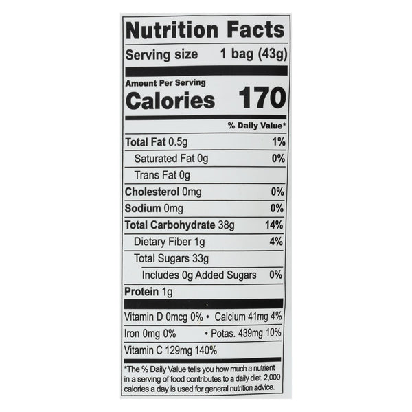 Natierra Freeze Dried - Pineapples - Case Of 12 - 1.5 Oz.