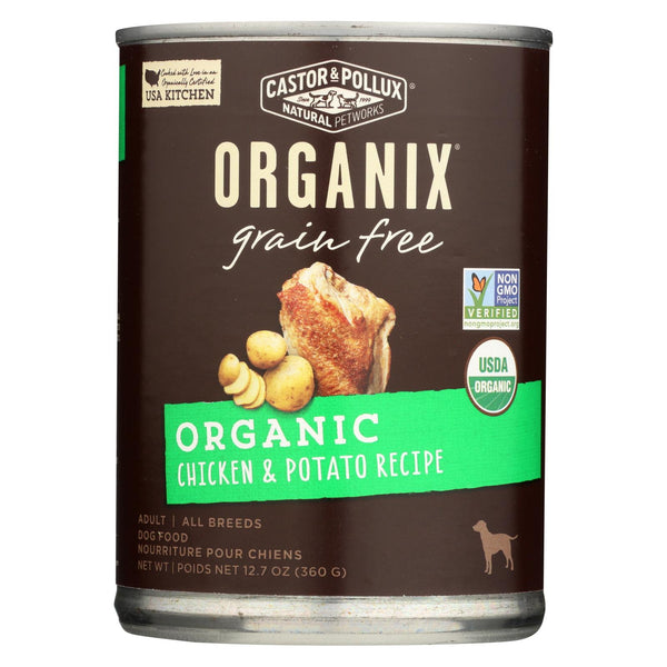 Castor And Pollux Organic Grain Free Dog Food - Chicken And Potato - Case Of 12 - 12.7 Oz.