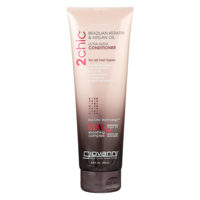 Giovanni 2chic Ultra-sleek Conditioner With Brazilian Keratin And Argan Oil - 8.5 Fl Oz