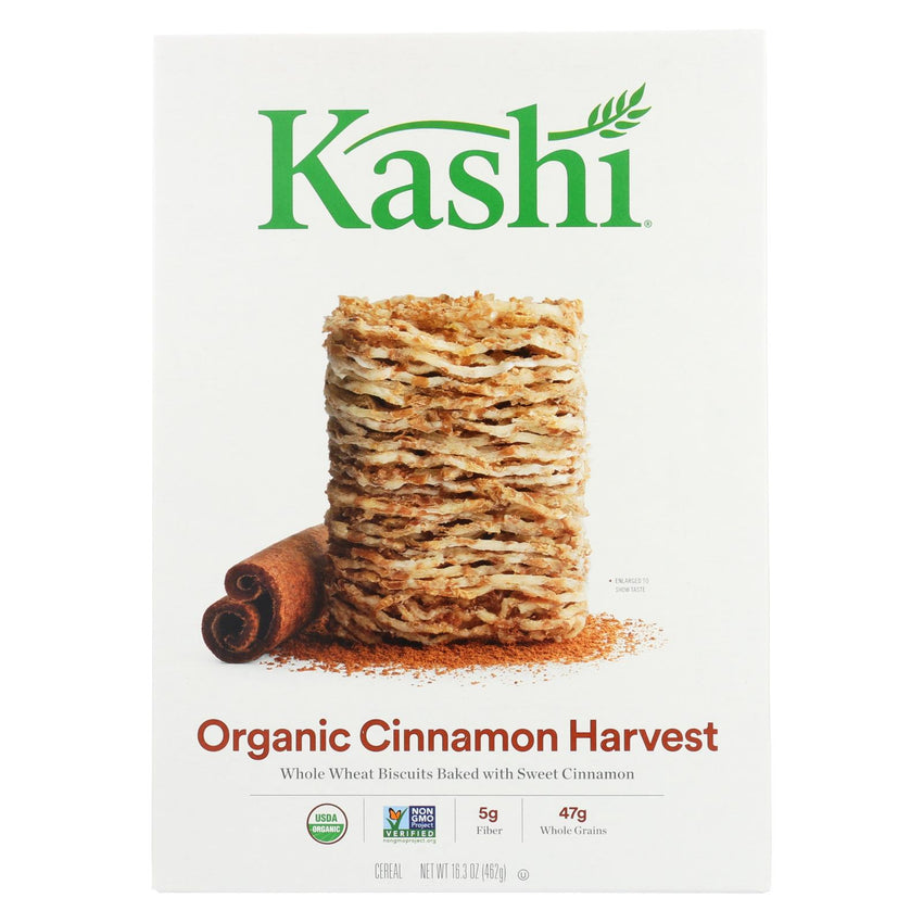 Kashi Cereal - Organic - Whole Wheat - Organic Promise - Cinnamon Harvest - 16.3 Oz - Case Of 12