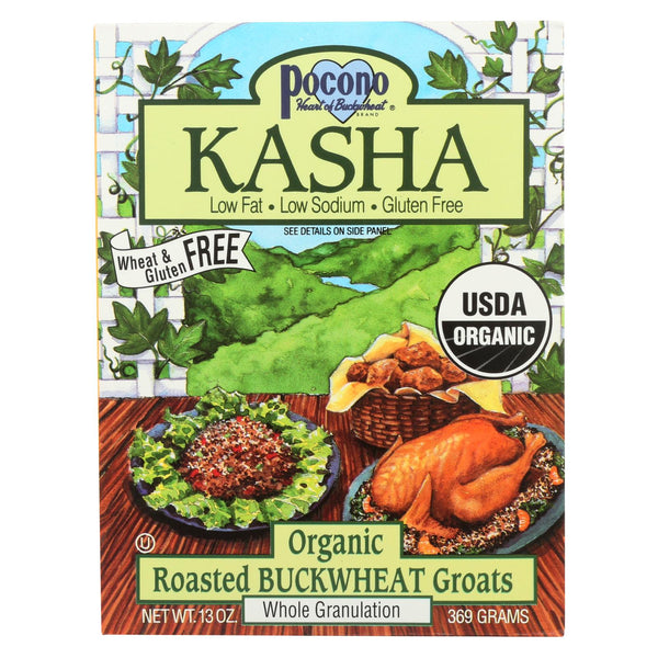 Pocono Whole Buckwheat Kasha - Organic - Case Of 6 - 13 Oz.