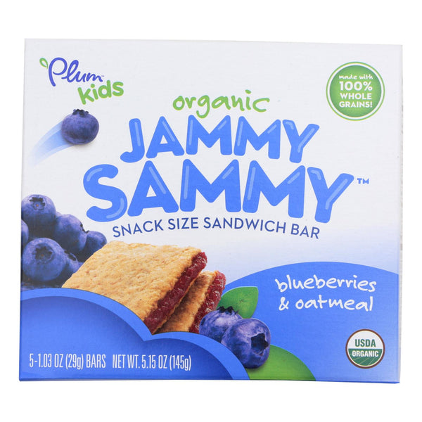 Plum Kids Jammy Sammy Snacks - Blueberry And Oatmeal - Case Of 6 - 1.03 Oz.