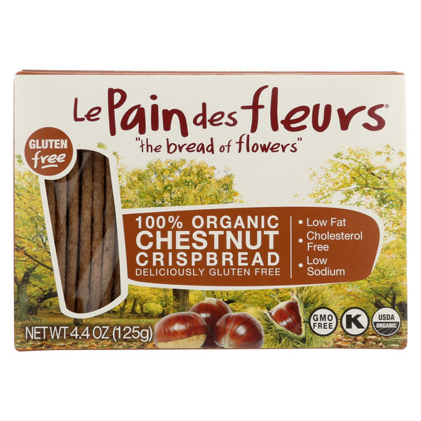 Le Pain Des Fleurs Organic Crisp Bread - Chestnut - Case Of 6 - 4.41 Oz.