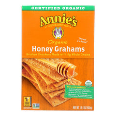 Annie's Homegrown Organic Honey Graham Crackers - Case Of 12 - 14.4 Oz.
