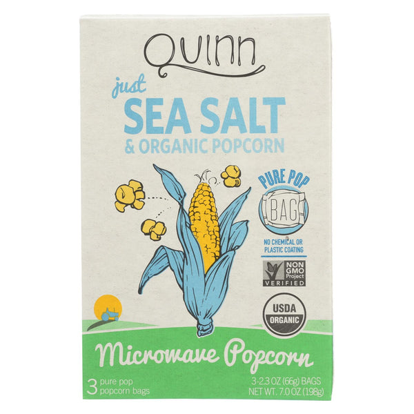 Quinn - Microwave Popcorn - Just Sea Salt - Case Of 6 - 7 Oz.