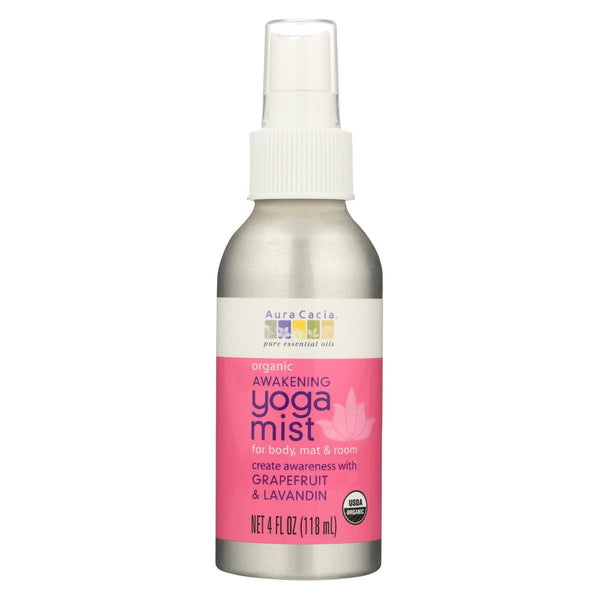 Aura Cacia - Organic Yoga Mist - Awakening Grapefruit And Lavandin Orange - 4 Oz