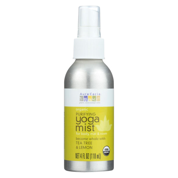 Aura Cacia - Organic Yoga Mist - Purifying Tea Tree And Lemon - 4 Oz