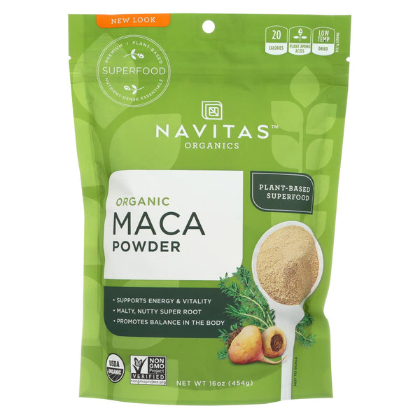 Navitas Naturals 100% Organic Maca Powder - Case Of 6 - 16 Oz