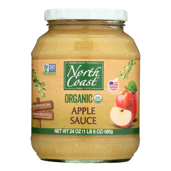 North Coast Organic Apple Sauce  - Case Of 12 - 24 Fz
