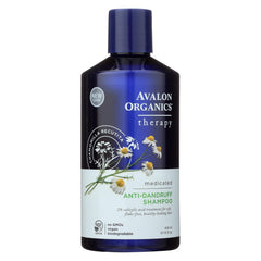Avalon Active Organics Shampoo - Anti Dandruff - 14 Oz