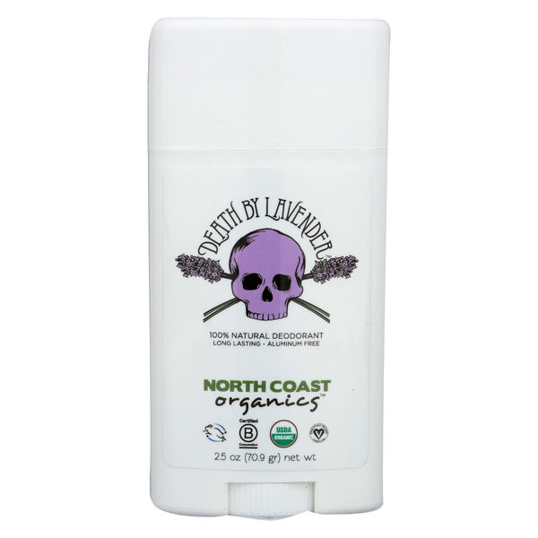 North Coast Organics Deodorant - Death By Lavender - 1 Each - 2.5 Oz.