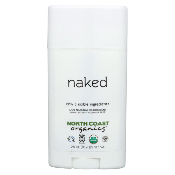 North Coast Organics Deodorant - Naked Sensitive Skin - 1 Each - 2.5 Oz.