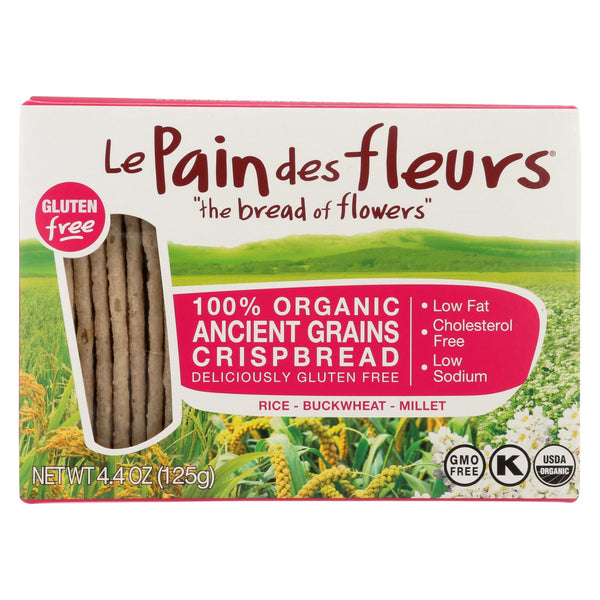 Le Pain Des Fleurs Crispbread - Ancient Grains - Case Of 6 - 4.4 Oz.