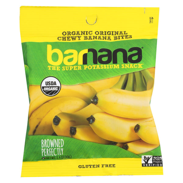 Barnana Organic Chewy Banana Bites - Original - Case Of 12 - 1.4 Oz