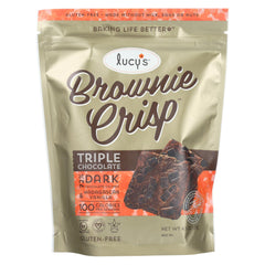 Dr. Lucy's - Brownie Crisps - Triple Chocolate - Case Of 8 - 4.5 Oz.