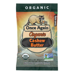 Once Again Organic Cashew Butter  - Case Of 10 - 1.15 Oz