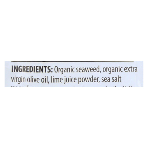 Seasnax Organic Seaweed - Lime - Case Of 12 - .36 Oz