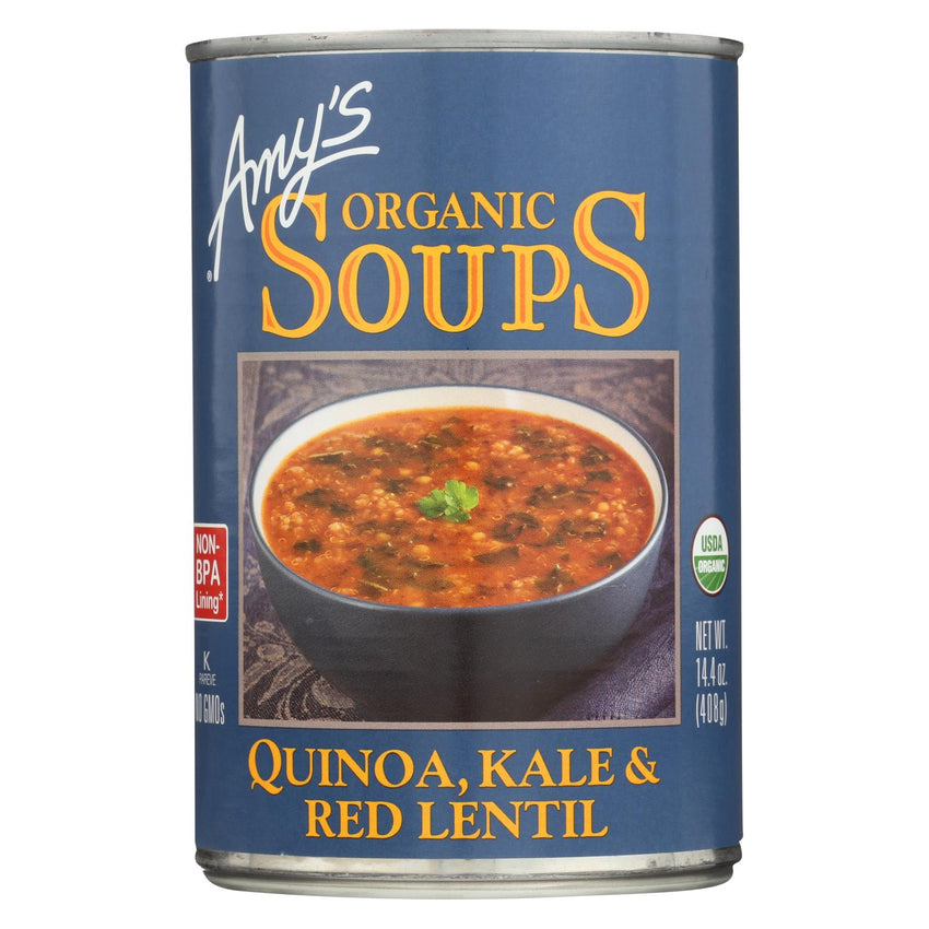Amy's - Organic Soups - Quinoa Kale And Lentil - Case Of 12 - 14.4 Oz.