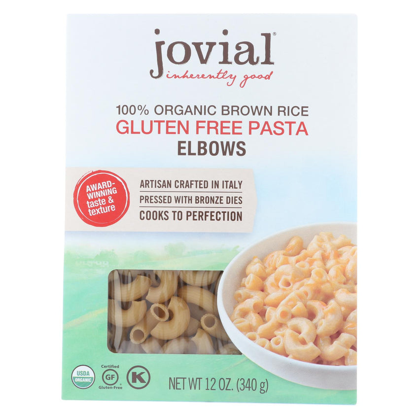 Jovial - Gluten Free Brown Rice Pasta - Elbow - Case Of 12 - 12 Oz.
