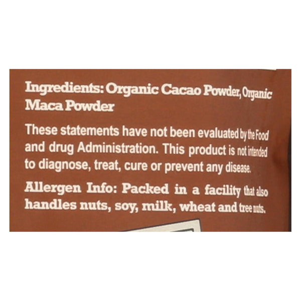 Natierra Organic Cacao Powder With Maca - Case Of 6 - 8 Oz.