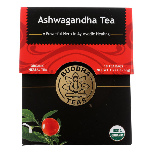 Buddha Teas - Organic Tea - Ashwaghanda - Case Of 6 - 18 Count