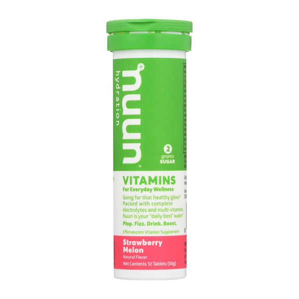 Nuun Hydration Drnk Tab - Strawberry Melon - Case Of 8 - 12 Tab
