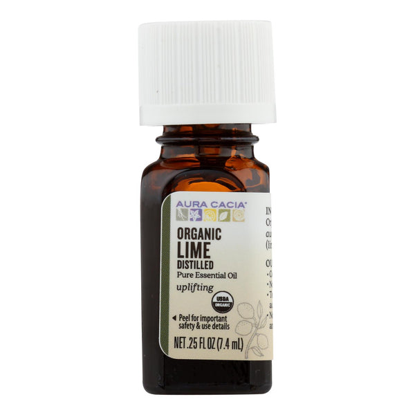 Aura Cacia - Organic Essential Oil - Lime - .25 Fl Oz