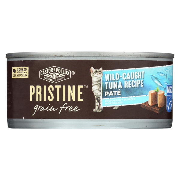 Castor And Pollux - Pristine Grain Free Wet Cat Food - Wild-caught Tuna Recipe - Case Of 24 - 5.5 Oz.