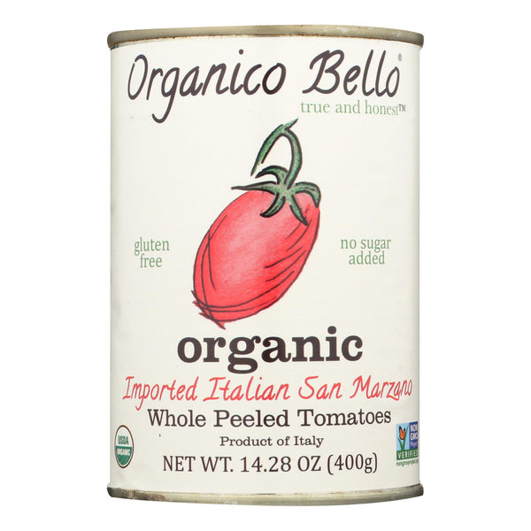 Organico Bello Tomatoes - Organic - Whole - Case Of 12 - 14.28 Oz