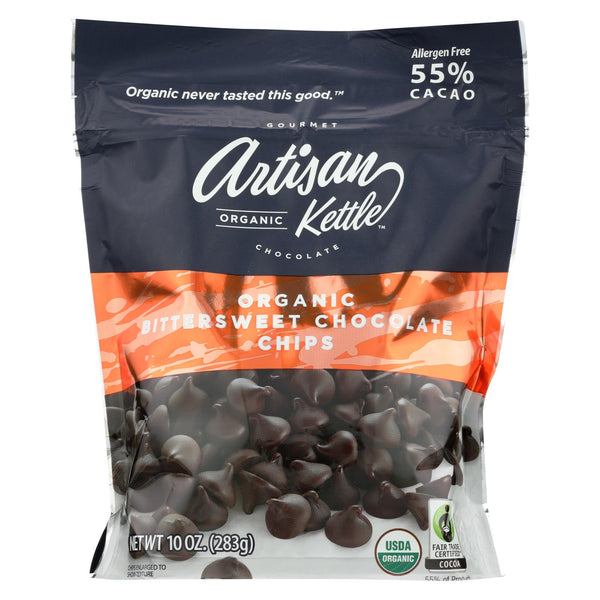 Artisan Kettle Chocolate Chips - Organic - Bittersweet - Case Of 6 - 10 Oz