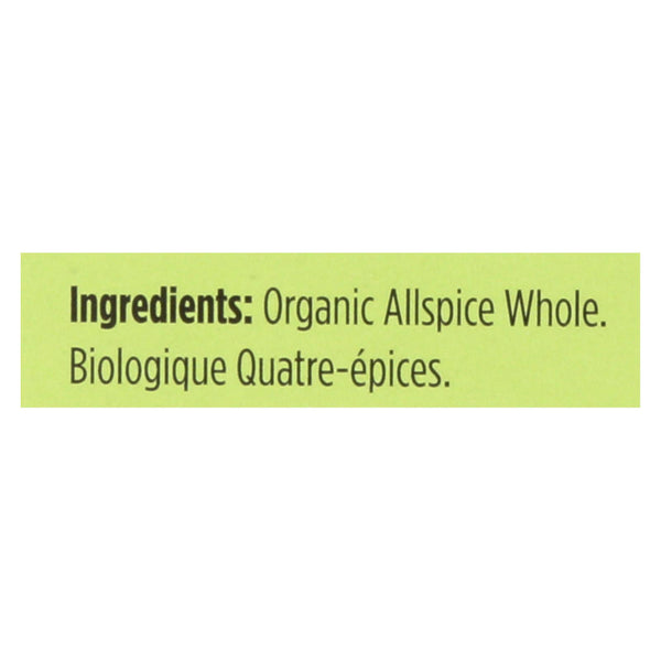 Spicely Organics - Organic Allspice - Whole - Case Of 6 - 0.3 Oz.