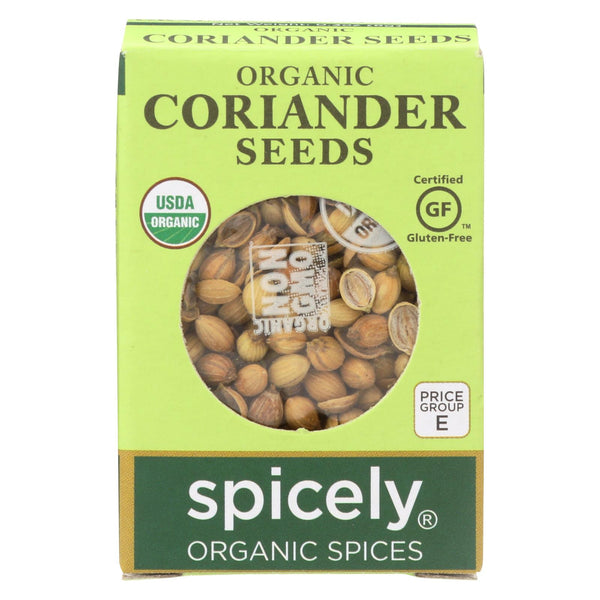 Spicely Organics - Organic Coriander Seed - Case Of 6 - 0.3 Oz.